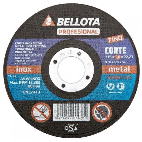 Řezací kotouč 115x22,2x1 BELLOTA 50300-115 (nerezová ocel/kov)