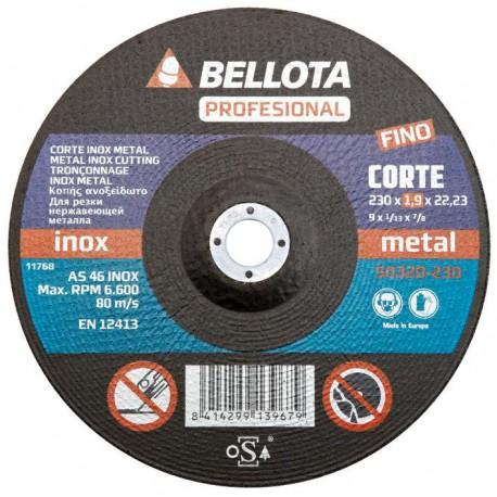 Řezací kotouč 180x22,2x1,6 BELLOTA 50320-180 (nerezová ocel/kov)
